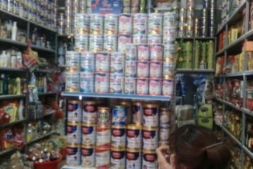 Giá kệ siêu thị bày hàng sữa tại Cửa Lò, Nghệ An