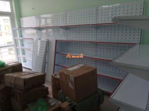 Kệ siêu thị bày hàng tôn lỗ tại Lê Chân, Hải Phòng