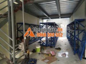Kệ sắt công nghiệp màu xanh tại Thái Nguyên
