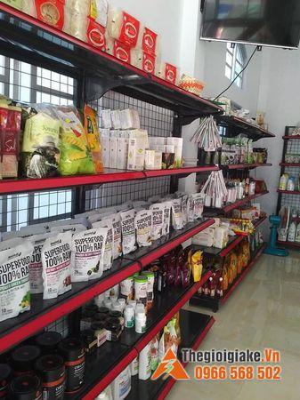 Kệ siêu thị màu đen tại Hà Nội