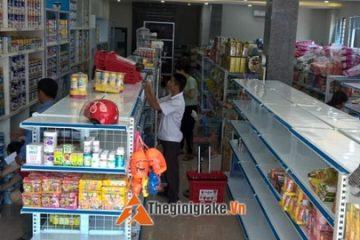 Lắp đặt giá kệ siêu thị tại Tây Hồ Lạc Long Quân